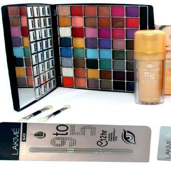 Pack of 06 Lakme 9 to 5 Naked 3 48 Colors Eye Shadow kit
