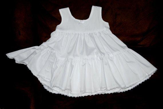 Crotchet baby girl white Christening Slip  Baby Girls Slip Cotton Infant Slip White Slip BaptismBlessing Dress or any of our dresses