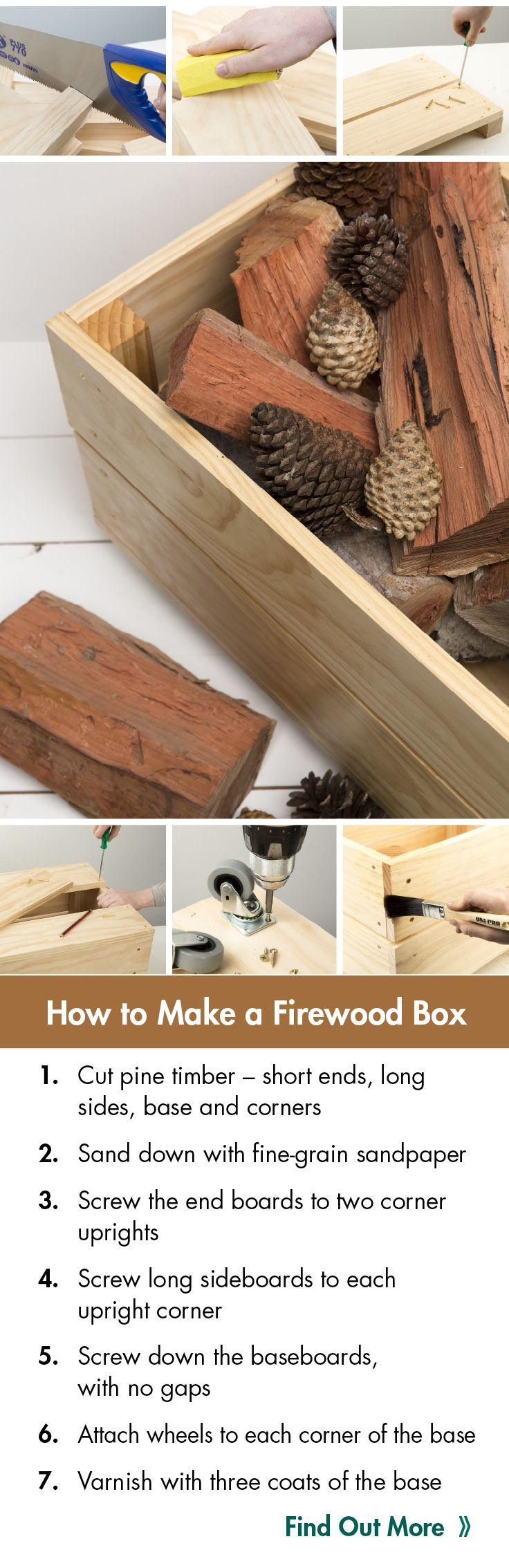 This Handy Storage Box Is Perfect For Storing Your Firewood. It Will Look  Great Next