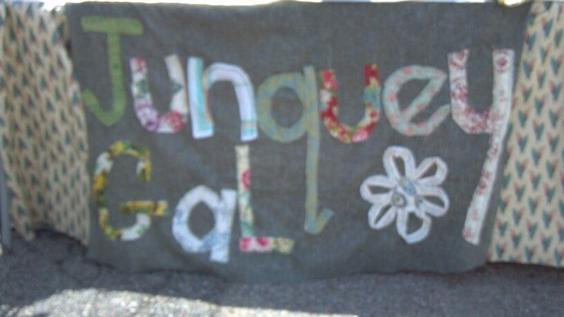 Junquey Gal craft show sign