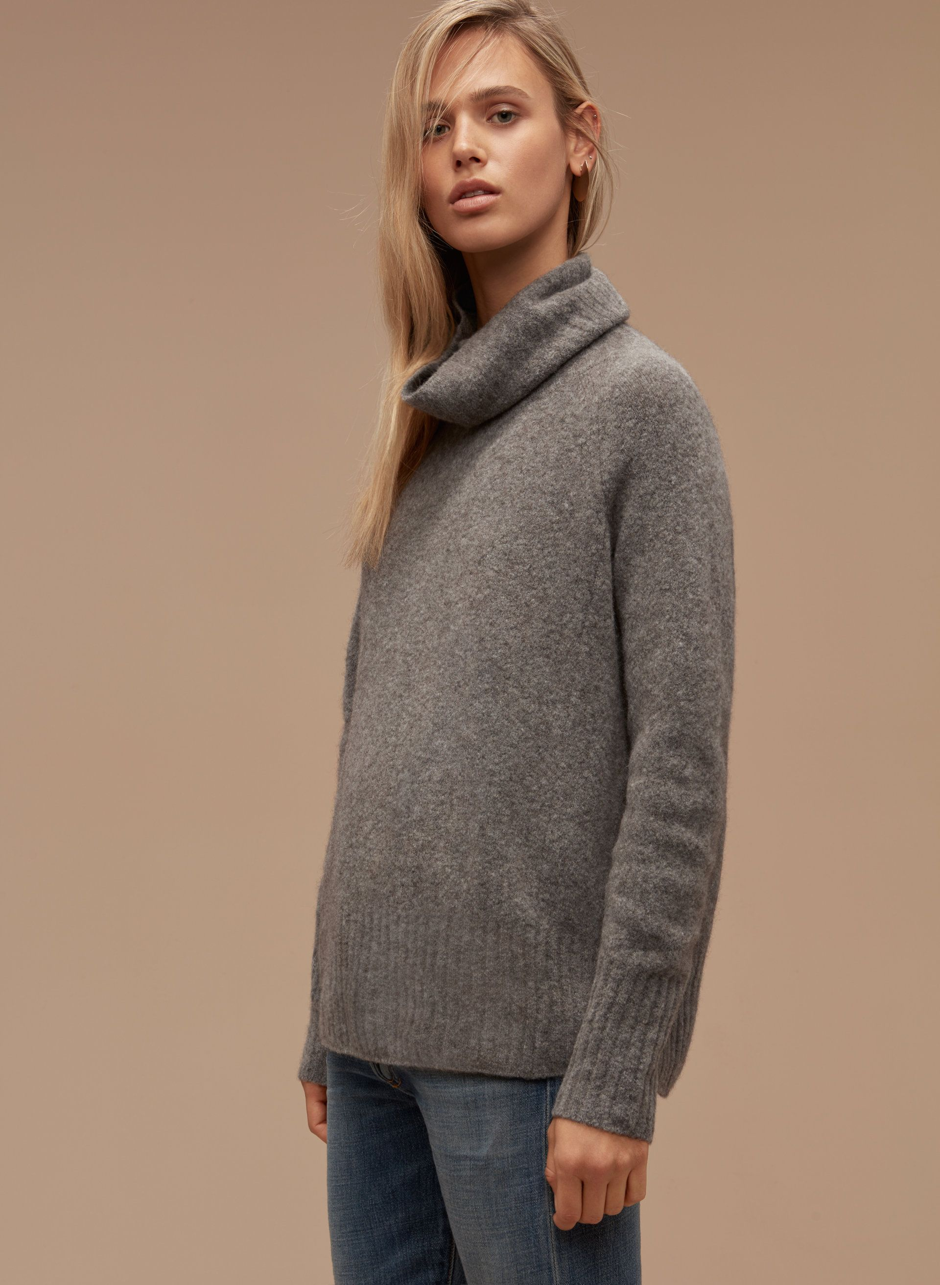 Get wrapped up with an oversized knit Aritzia