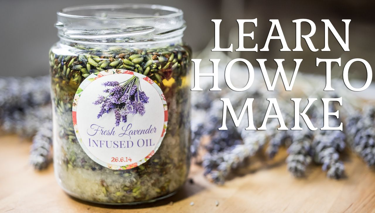 Learn how to make your own homemade fresh lavender infused ...