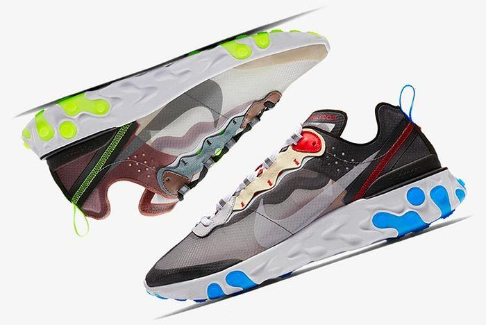 14356b808a8e Where to Buy  Nike React Element 87 Desert Sand and Dark Grey ...