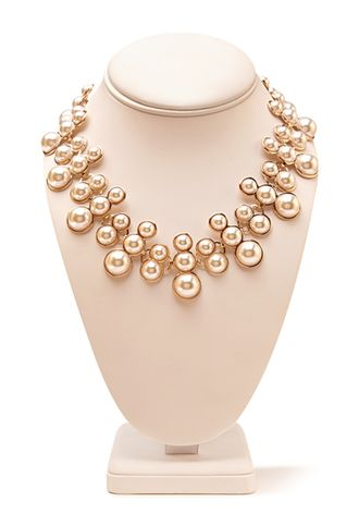 Pearlescent Cluster Bib Necklace | FOREVER 21 - 1000069797