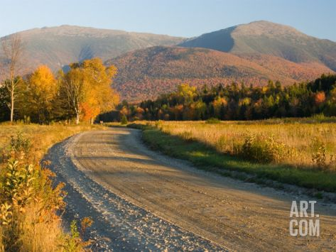 Valley Road in Jefferson, Presidential Range, White Mountains, New Hampshire, USA Photographic Print by Jerry & Marcy Monkman at Art.com