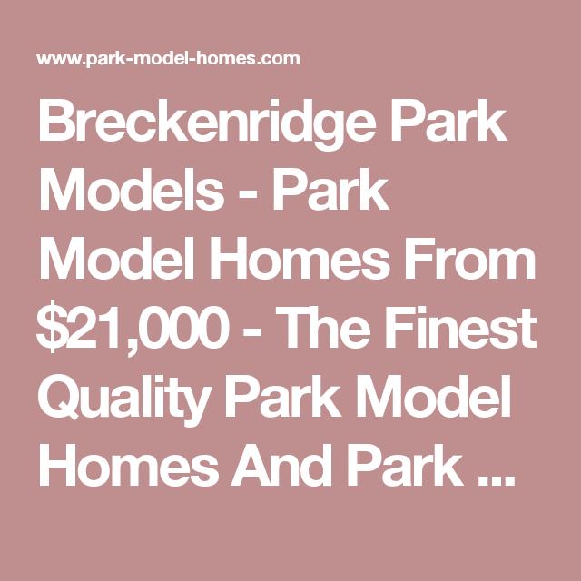 Breckenridge model homes