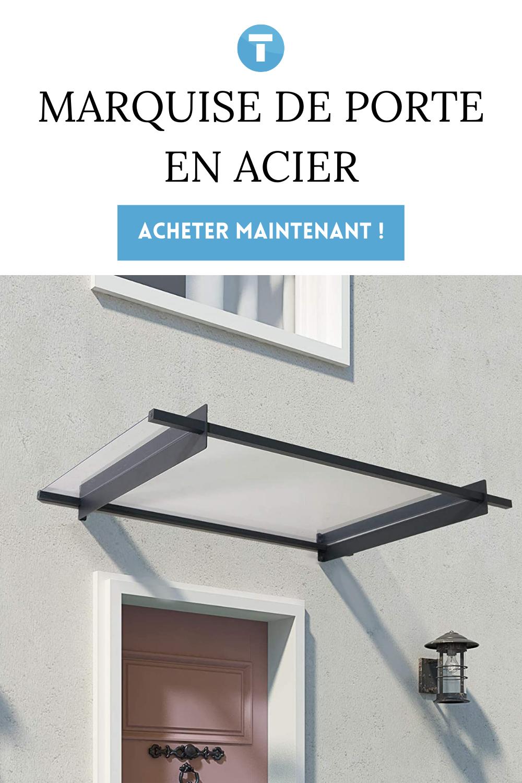 Steel door canopy