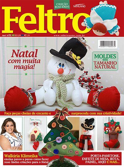 Andrea Artesanato Goiania ~ Artesanato Feltro COL BOAS IDEIAS FELTRO ESP 001 Editora Minuano Revistas Feltro