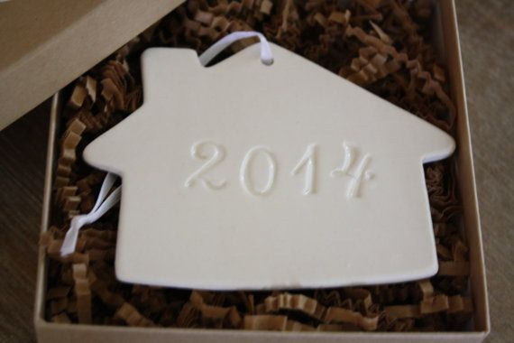 Our First Christmas Ornament Our New Home 2014 Celabratory Christmas Ornament on Etsy, $14.00