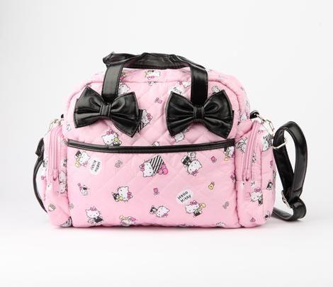 9622fa45d Hello Kitty 2 Way Handbag: Black Bow   Hello kitty   Bags, Hello ...
