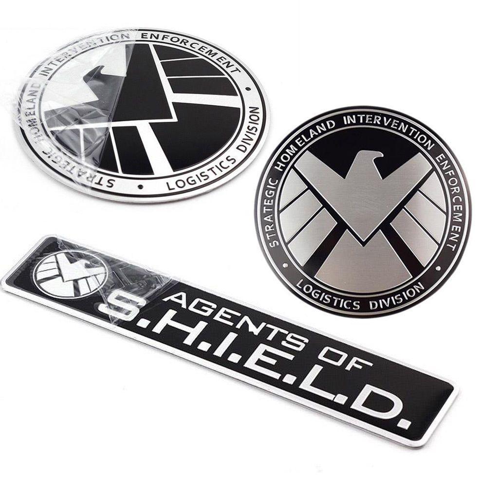 Avengers Marvel Agents Of Shield Logo 3d Chrome Metal Car Sticker Badge Emblem Shield Logo Marvel Agents Of Shield Car Stickers [ 990 x 990 Pixel ]