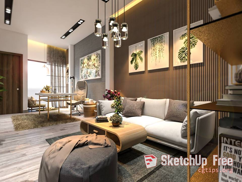 872 Interior Apartment Sketchup Model By Suvn Free Download