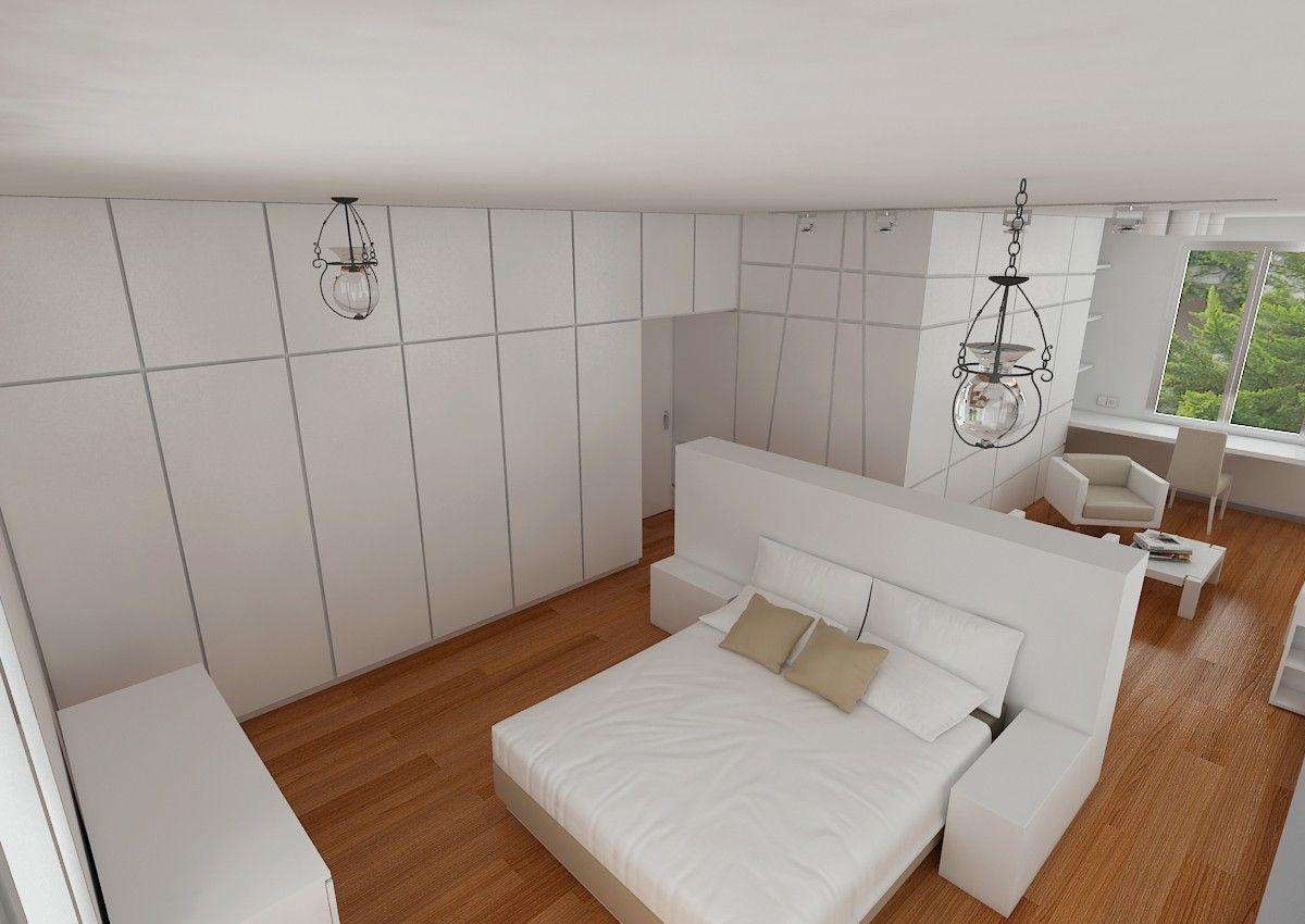 decoracion moderno dormitorio camas sillones mesas de centro estanterias