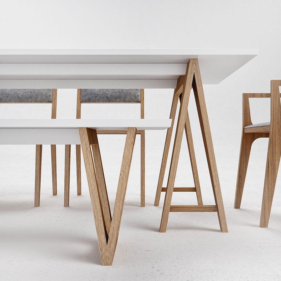 Mesa de comedor y sillas de estilo moderno | Diseño Estilo ...