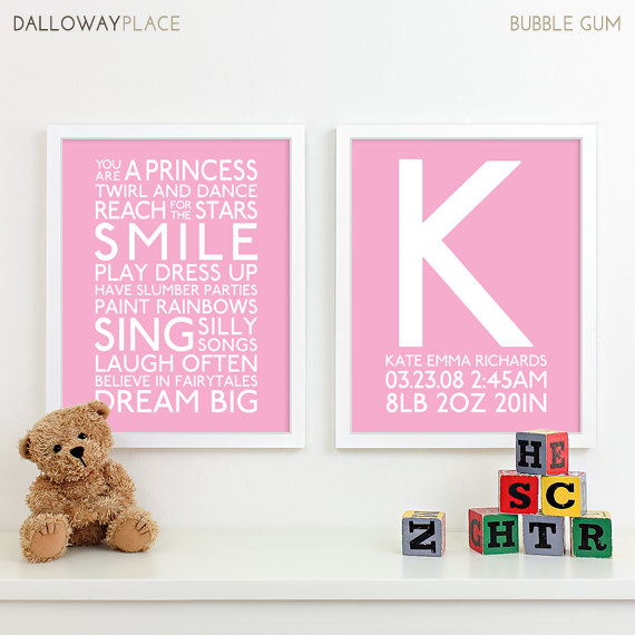 baby girl nursery art print playroom rules subway art quotes baby