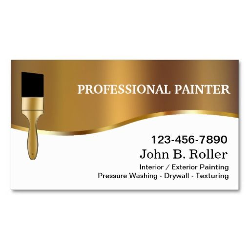Painter Business Cards Zazzle Com In 2021 Painter Business Card Elegant Business Cards Design Free Business Card Templates