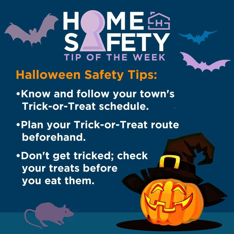 Keep your trickortreating safe and fun with this week's