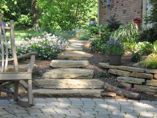 Natural Stone Steps Landscape Maintenance Garden Steps Front Yard Landscaping
