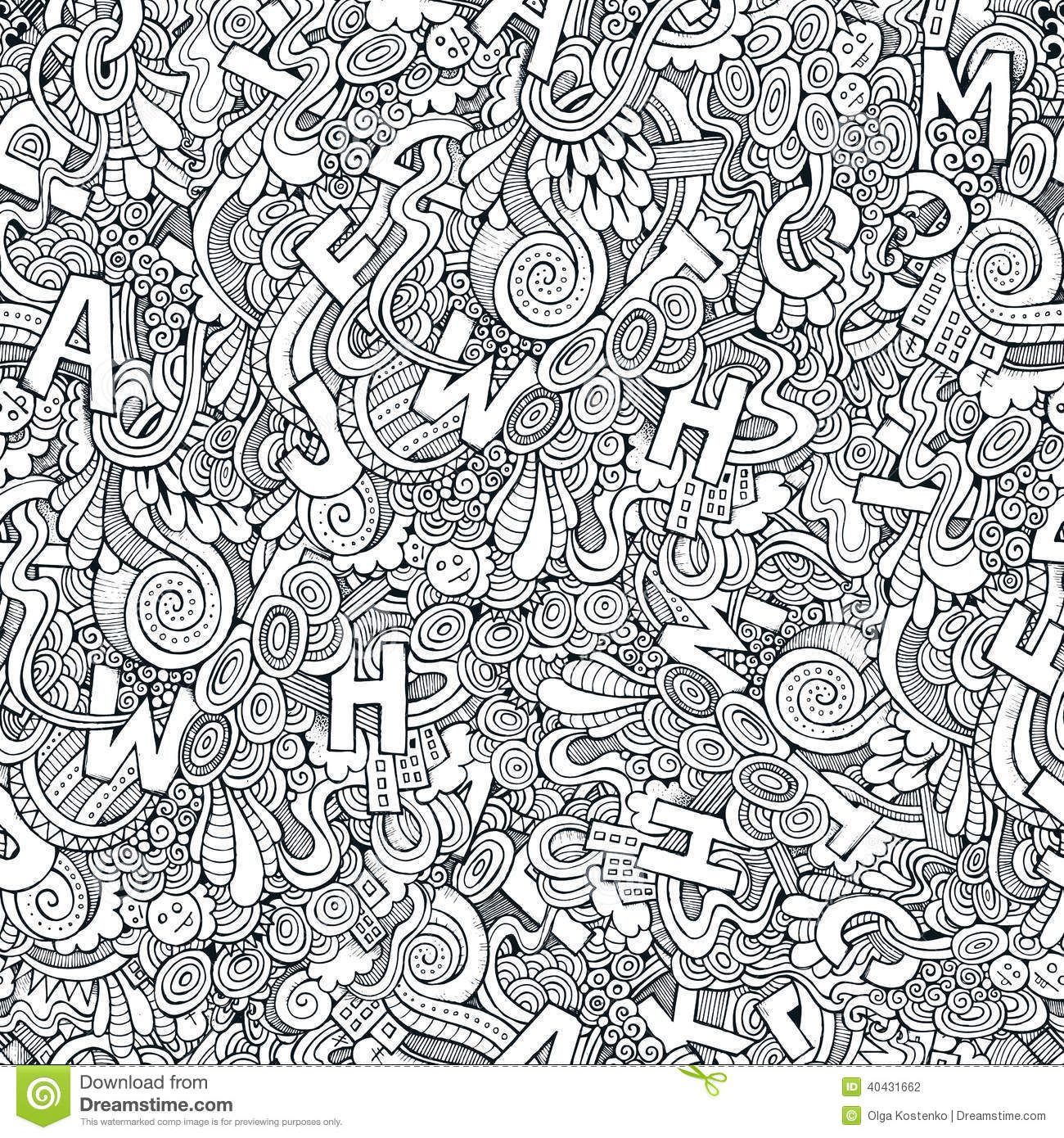 doodles 58 advanced coloring pages - Advanced Coloring Pages Letters