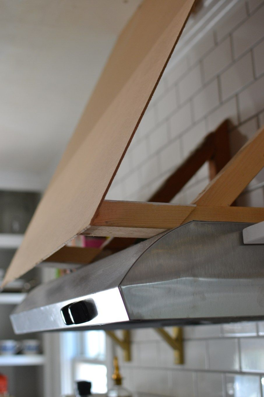 DIY Range Hood Cover | hotte | Pinterest