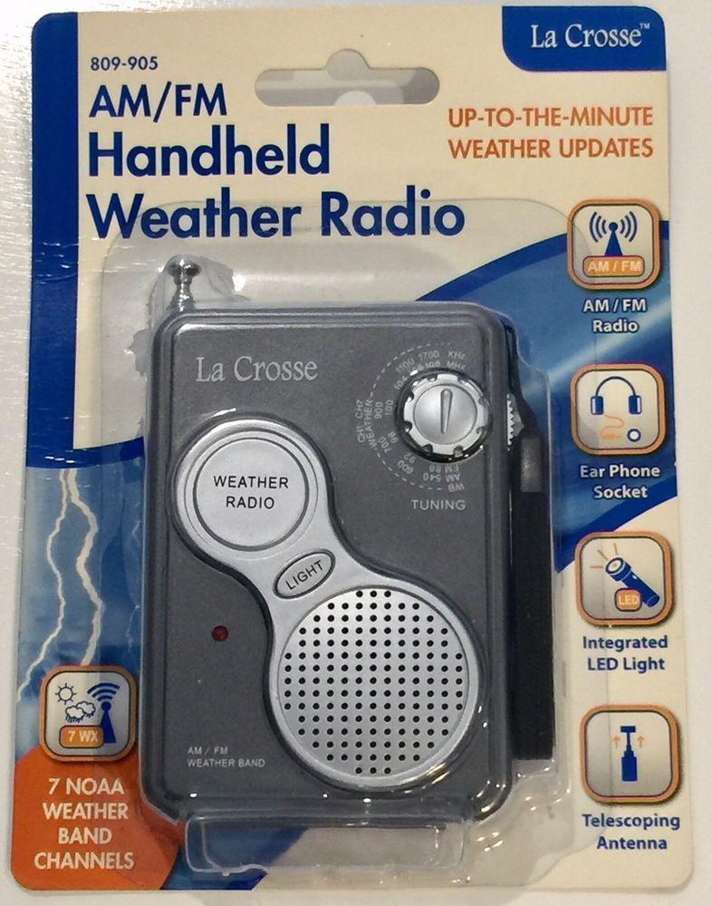809-905 La Crosse AM//FM All 7 NOAA Weather Band Channels Handheld Weather Radio