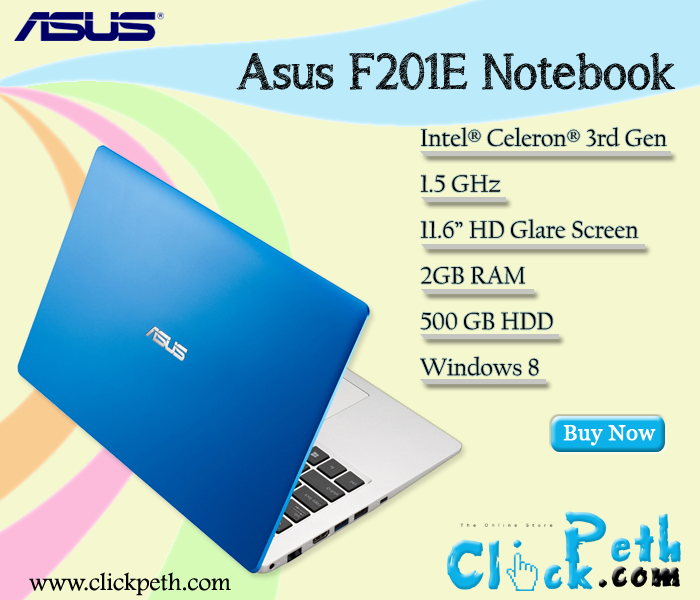 Buy Brand New Asus F201e Series Notebook At Best Price Buy Now Visit Clickpeth Com Or Call On 91 996 997 998 5 Cash On Delivery F Asus Stuff To Buy Intel