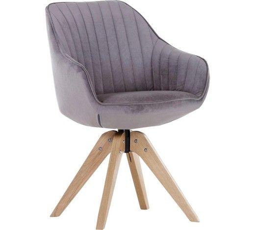 Armlehnstuhl Velours Schlammfarben Online Kaufen Xxxlutz Esszimmerstuhle Stuhle Drehstuhl Esszimmer