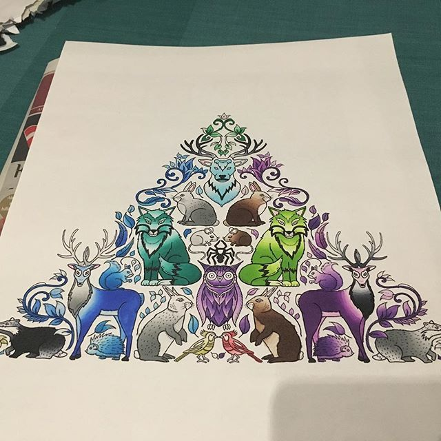 Pin On Adult Coloring With Chameleon Pens