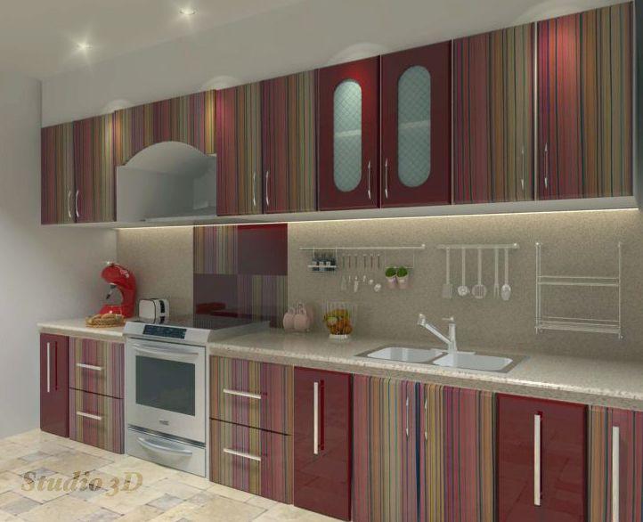Modular kitchen using merino laminates