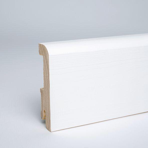 Sockelleiste 80mm Deckend Weiss Lackiert Mit Kabelkanalfrasung Sockelleisten Decken Lackieren