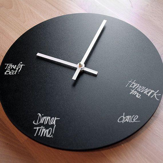 Variel Chalkboard Circular 10 Inch Wall Clock Clock Wall Clock Dry Erase