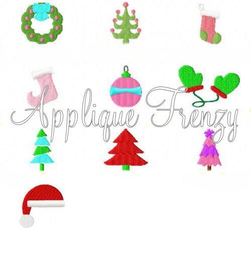 Christmas Minis Embroidery Designs Chrismtas Stocking Santa