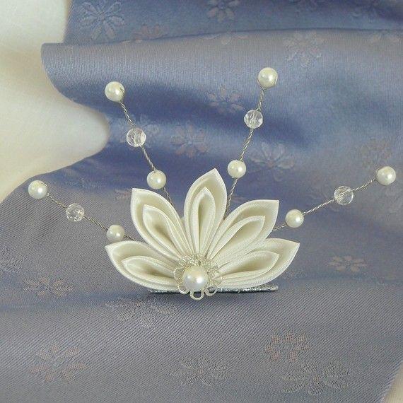 Momiji Delight - Kanzashi tiara, also great for corsage