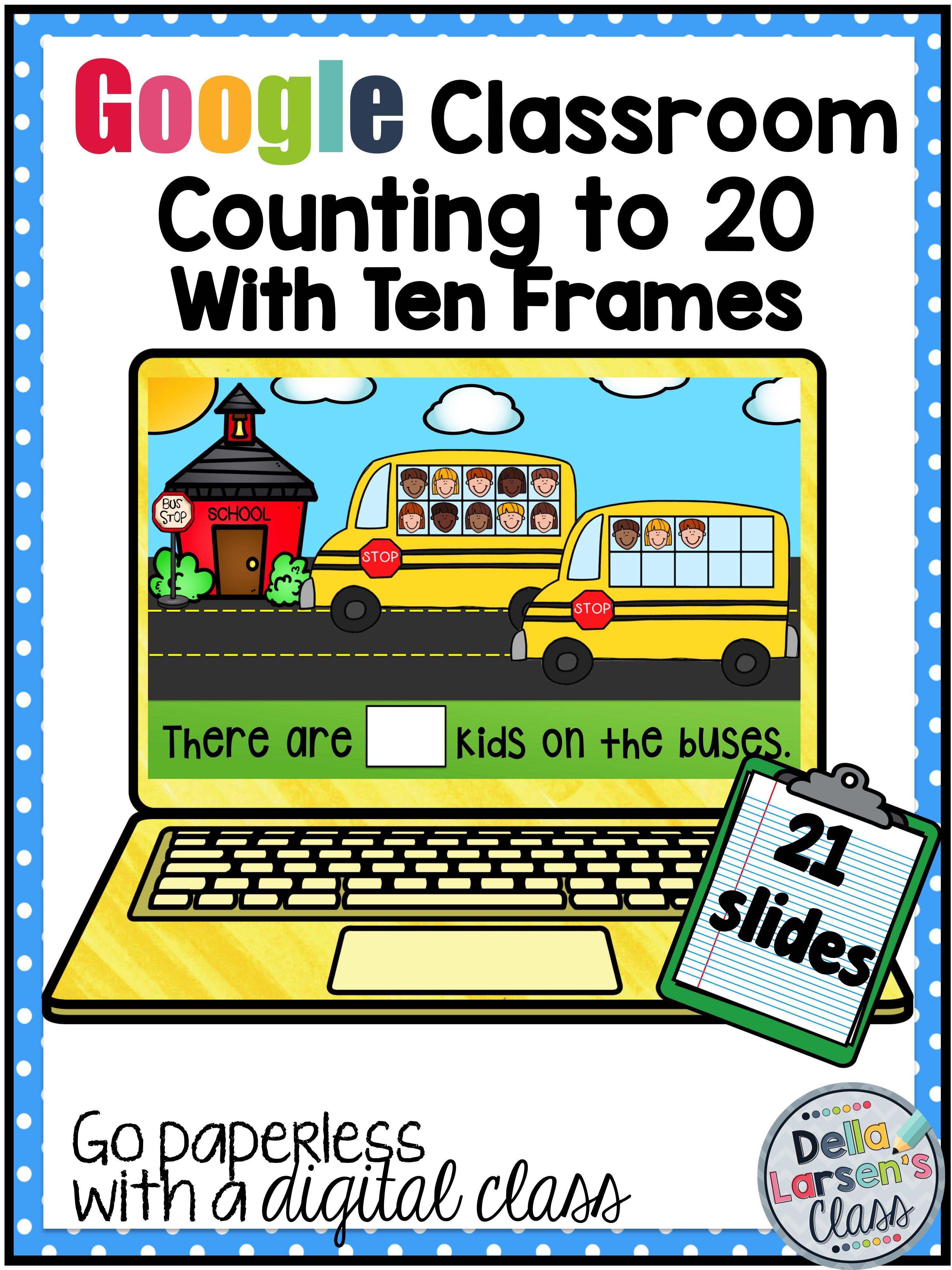 Classroom Counting To 20 With Ten Frames