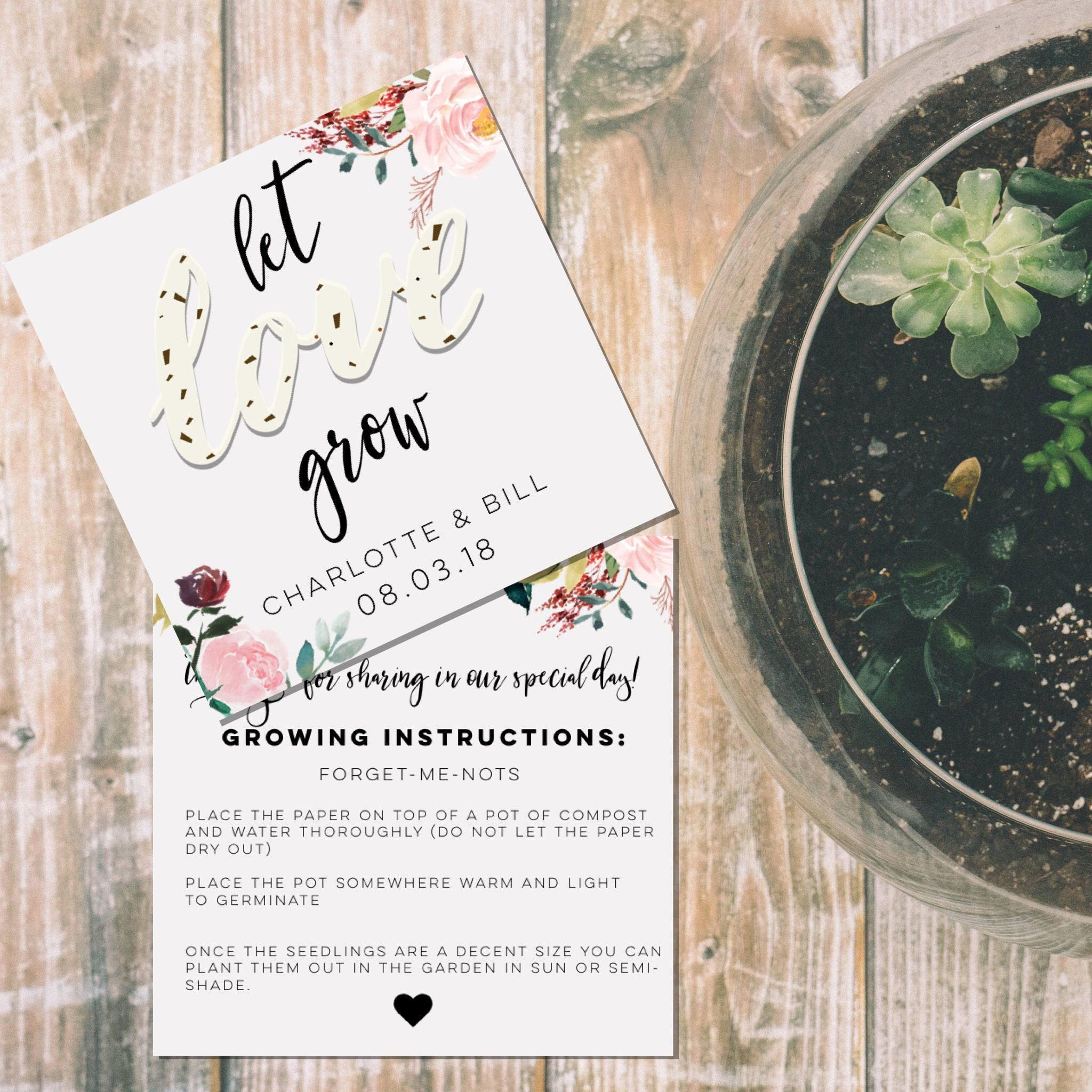 Excited to share the latest addition to my #etsy shop: Let Love Grow ...