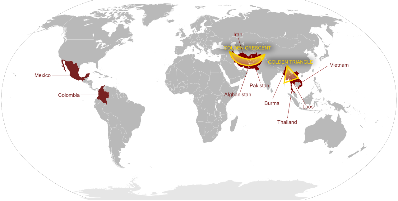 Heroin Producing regions of the world