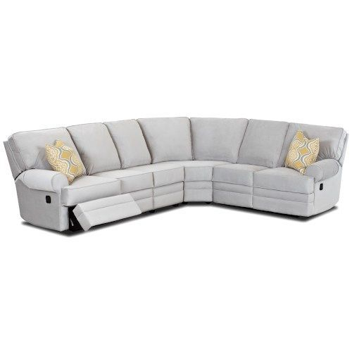 Belleview Classic Reclining Sectional Sofa With Rolled