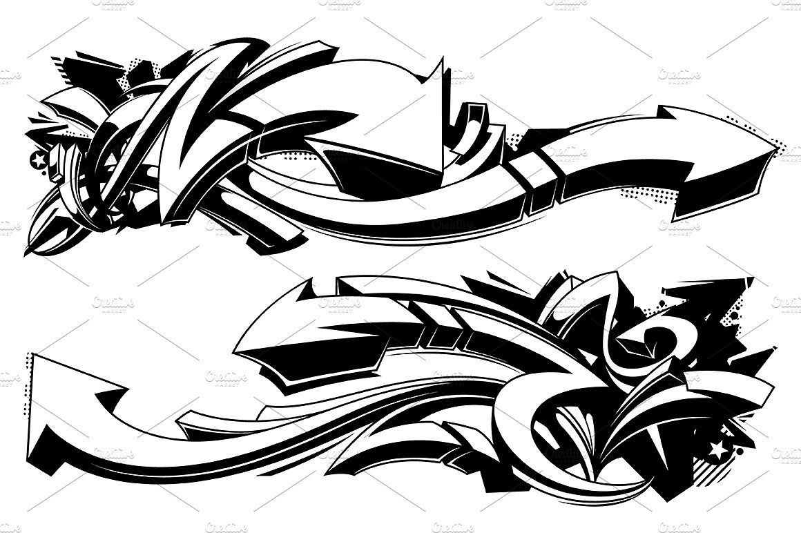 Graffiti Vector Arrows Graffiti Designs Black And White Graffiti Graffiti Art Letters
