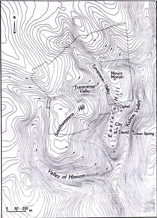 Topographical Map Of Jerusalem Study IV Indiana Jones - Mt topo maps