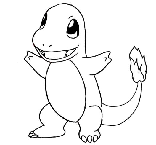 How To Draw Charmander Pokemon Coloring Pages Pokemon Coloring