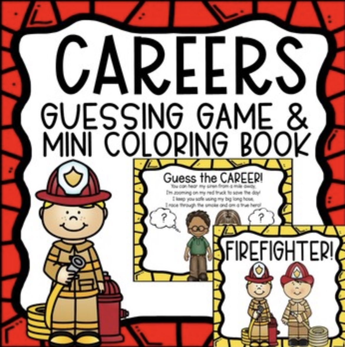 Careers Community Helpers Guessing Game Amp Mini Coloring