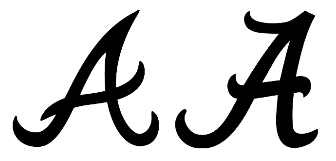 alabama logo google search fonts letters pinterest rh pinterest com Alabama Script a Logo Alabama Script a Logo