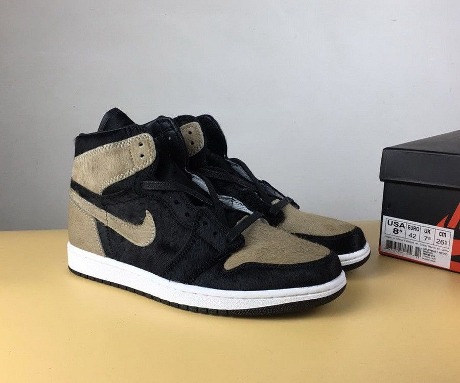 d85f5a09c04 Authentic The Shoe Surgeon x Air Jordan 1 Shadow Pony Hair
