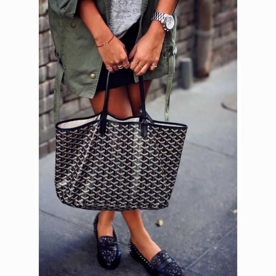 Back to basics with Goyard tote bag #goyard www.mosmoda.com/Goyard