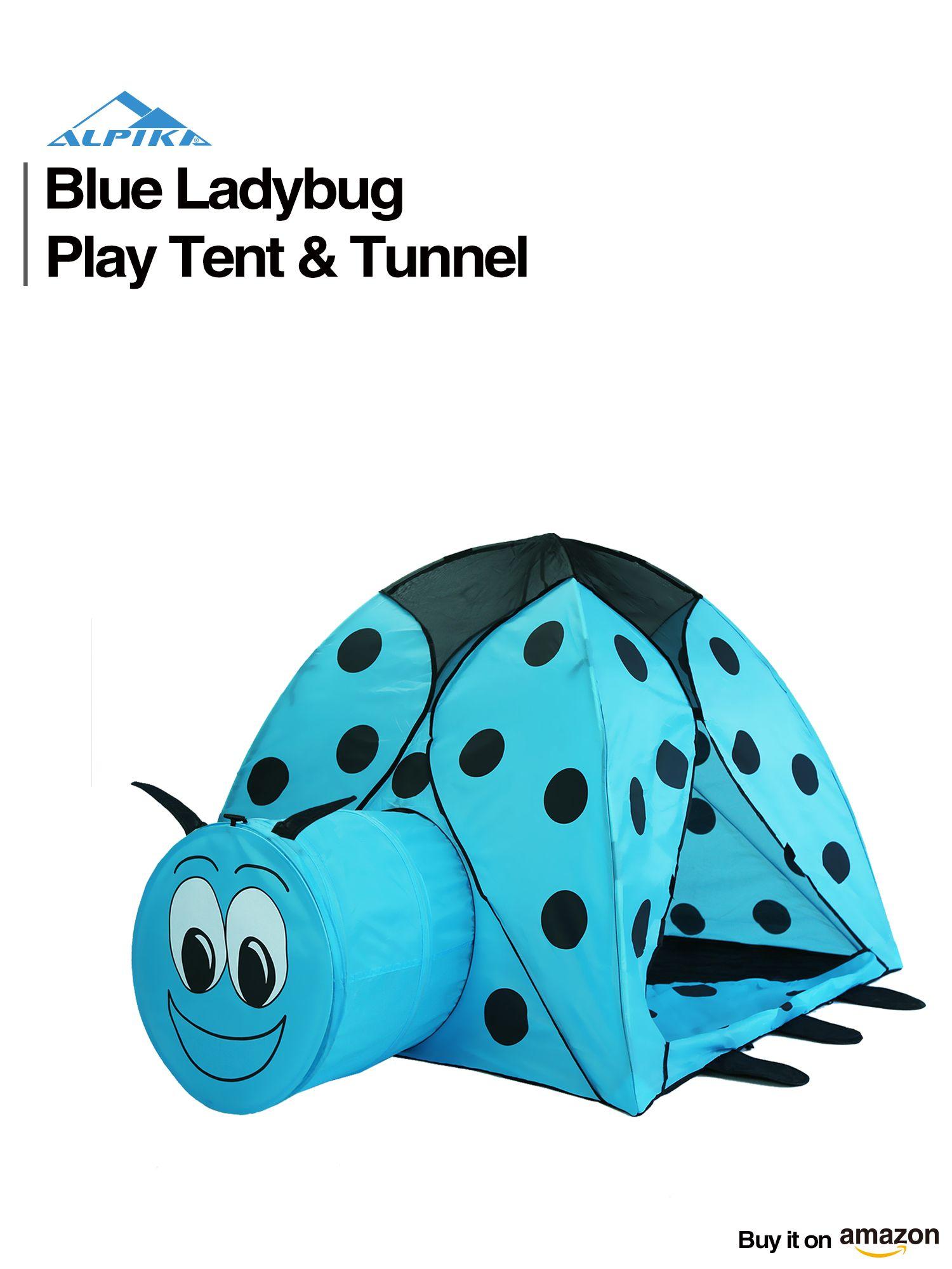 alpika ladybug kids play tent and ball pit with storage bag blue