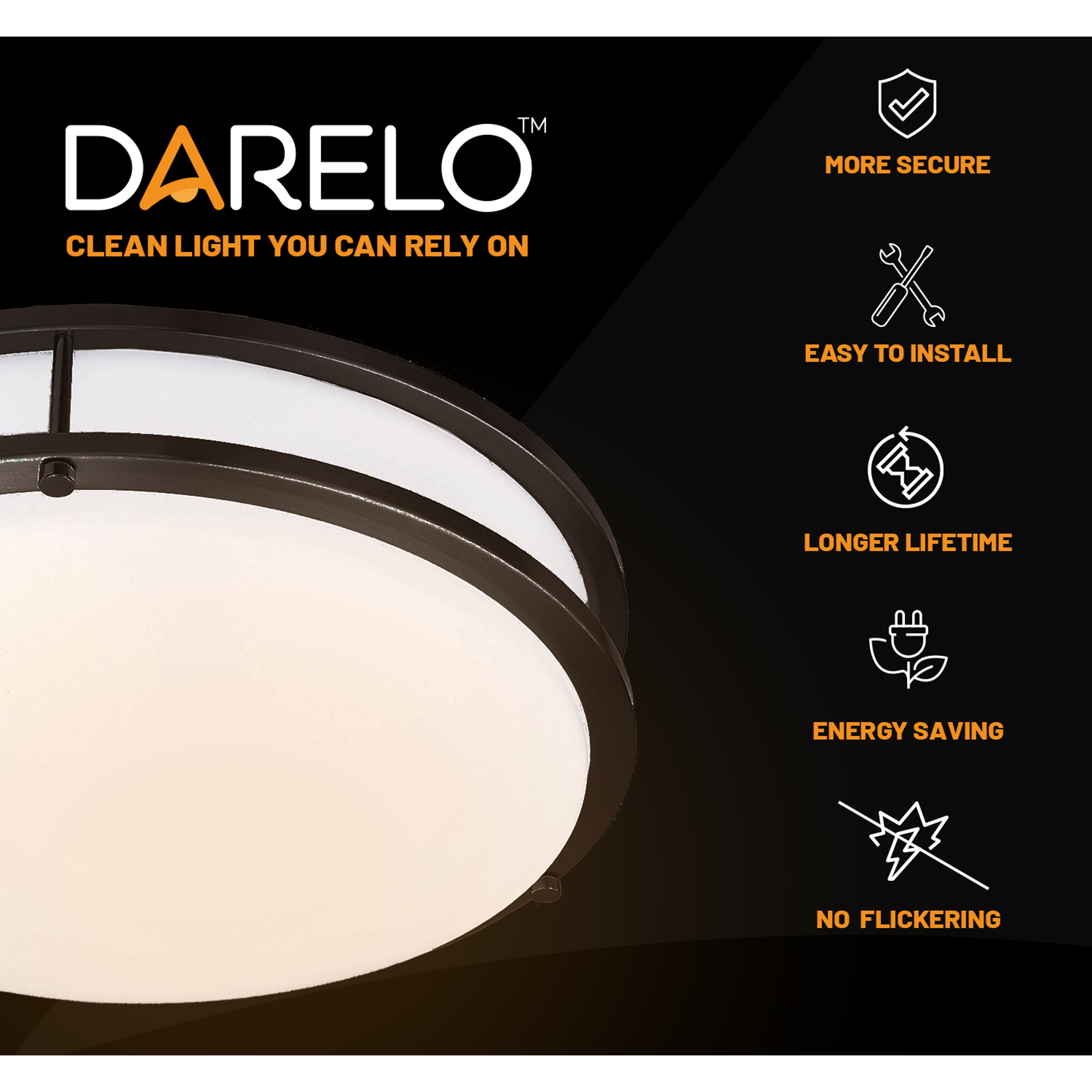 Darelo Dimmable 10 Inch Led Ceiling Light Elegant Minimalist Flush Mount Ceiling Lighting Fixture With 3 Cct Selectable Color Temperature Round Bronze Finish Ce Led Ceiling Lights Ceiling Lights Led Ceiling