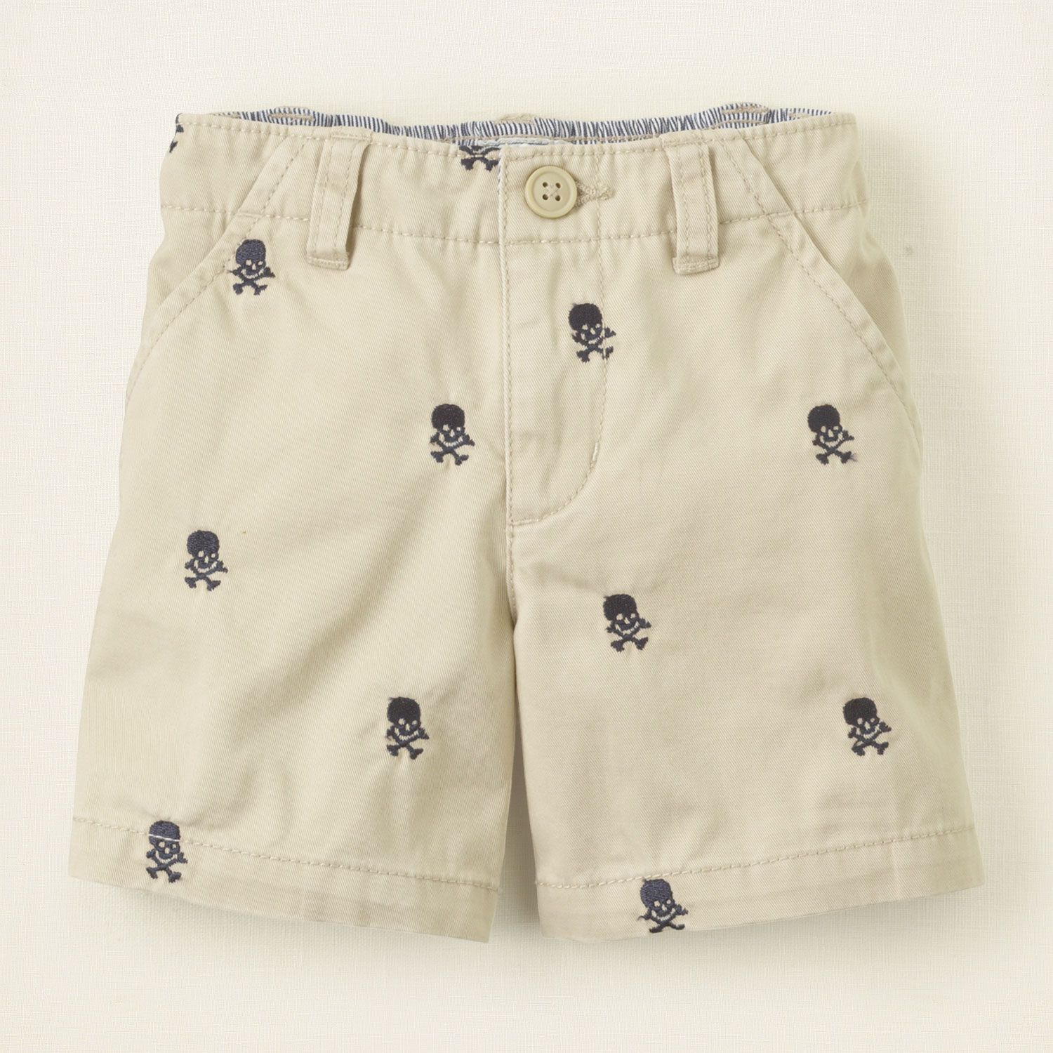 Gymboree Boys Embroidered Skull Short