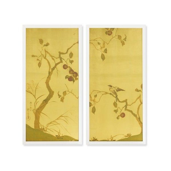 Williams-Sonoma Songbird Diptych ($1,250) ❤ liked on Polyvore ...