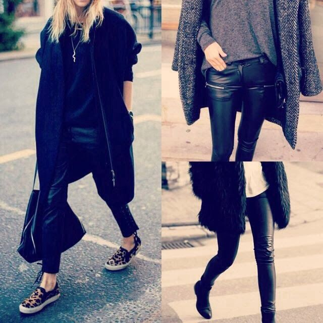 How to Chic: LEATHER PANTS TREND