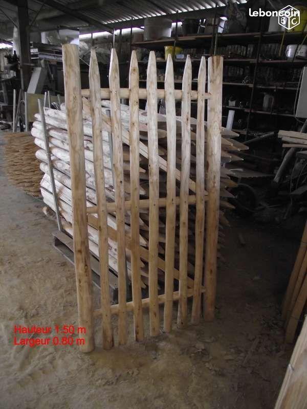 Portillon , portail , bois chataignier Jardinage Charente ...